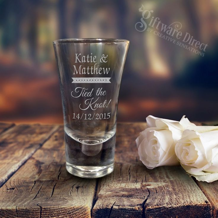 engraved 60ml deluxe wedding shot glasses custom shot glasses tall shotties for wedding