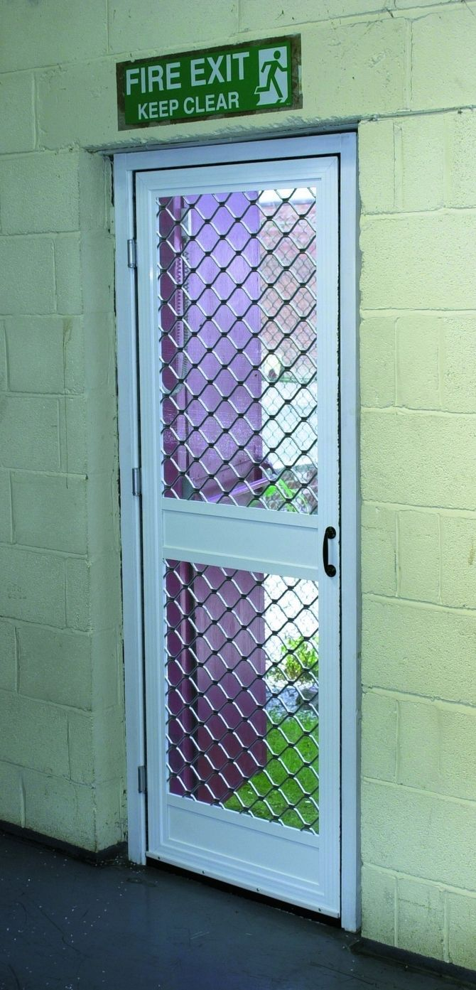 Industrial Security Screen Doors
