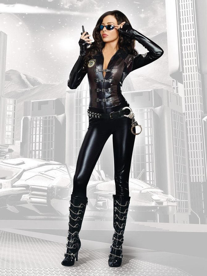 Special Op's Women's Catsuit Costume - Police/Firefighter Costumes