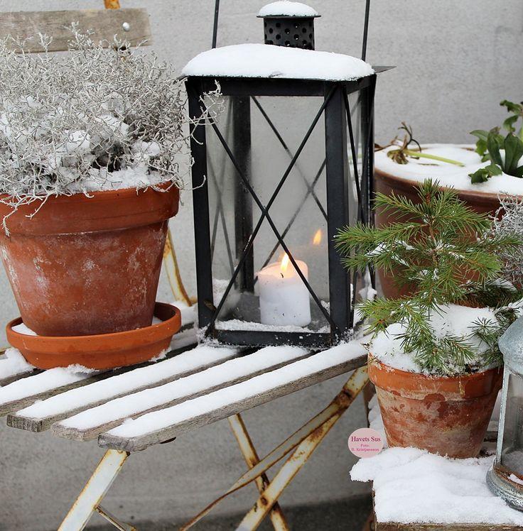 winter, vinter, lanterne, levende lys, sne, snow, interior, naturen, nature