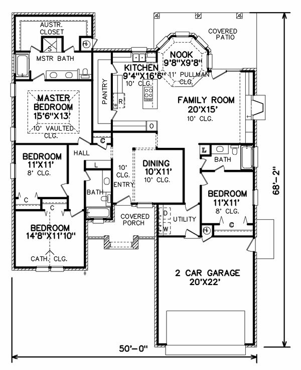 Plan No: 7025 Square Footage: Bedrooms: Bathrooms: Roof Pitch: Garage Stalls