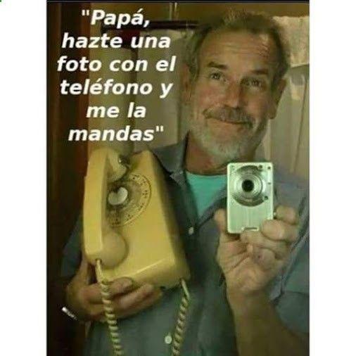 Papa Hazte una Foto con el Telefono-Las mejores imagenes chistosas, imagenes graciosas, fotos graciosas, imagenes para whatsapp, chistes cortos, fotos para facebook y frases graciosas