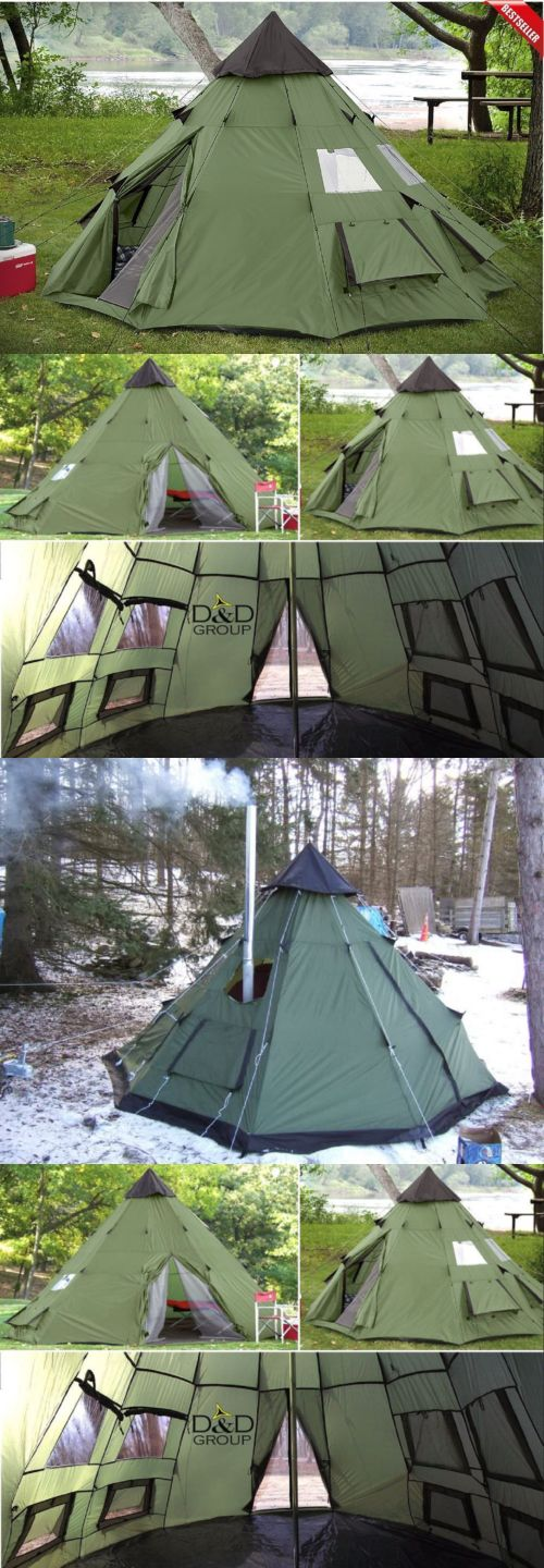 Tents 179010: Teepee Tent 6 Person Family Camping Military Hiking Outdoor Survival Green New -> BUY IT NOW ONLY: $136.64 on eBay!