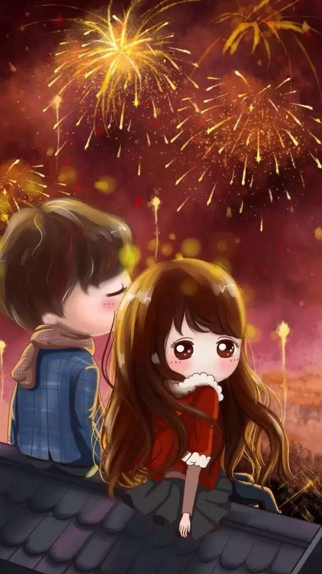 Chibi Anime Couple Art Arco Iris Projects Korean Planners Illustrations Pretty Images Couples