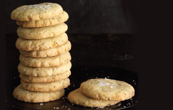 Lemon-Lime Basil Shortbread Cookies - Bon Appétit