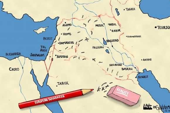 Les bouleversements régionaux sont équivalents à ceux de la fin de la Ière Guerre Mondiale, lors del'effondrement de l'Empire Ottoman
