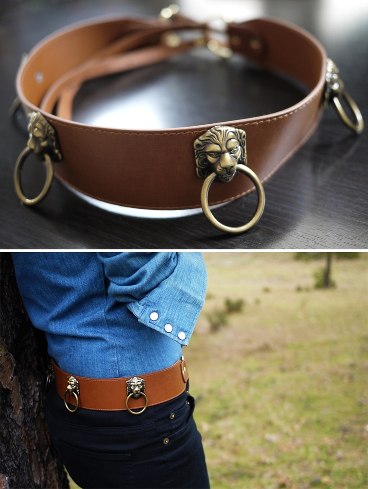 DIY: door knocker belt. I love this but don't think i could ever pull it off!