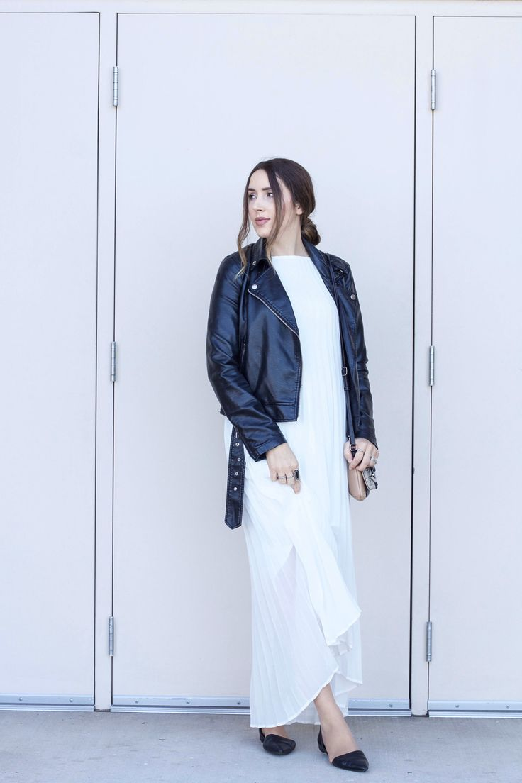 white maxi dress outfit fall