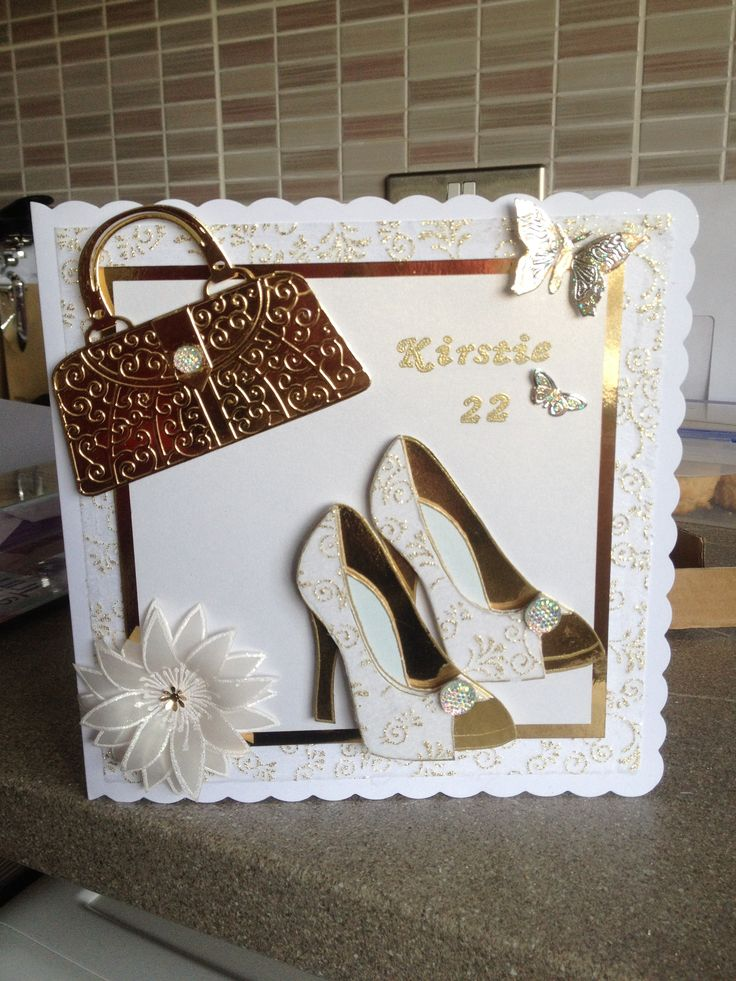 tattered lace ornate handbag die and Chloe's stamps for shoes and flower