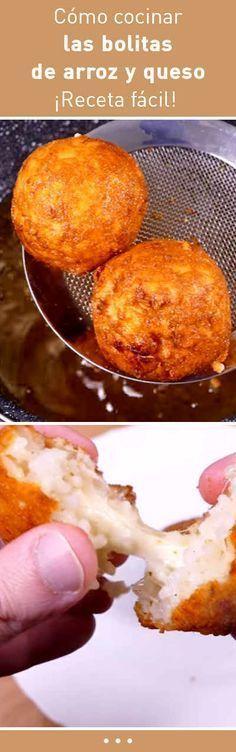 Cómo cocinar las bolitas de arroz y queso. ¡Receta fácil! #recetas
