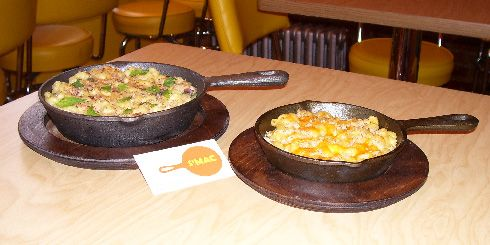So I went to New York and ate at a place called S'Mac. Mac and Cheese to the max (or shall I say macs. hehehe.) But now I am super obsessed with mac-n-cheese with crazy stuff in it. (The secret is the cast iron skillet)