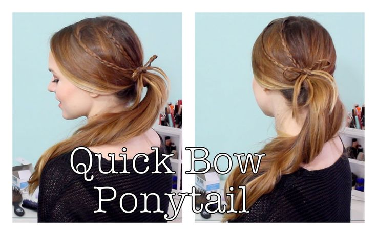 5 Minute Hairstyles Braids: How To Do A Quick Braided Bow Ponytail Perfect 5 Minute