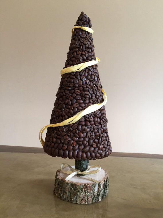 Christmas tree coffee beans tree kitchen decor by Reniahandmade