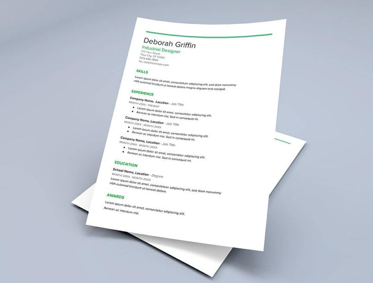 resume templates for google docs with green details