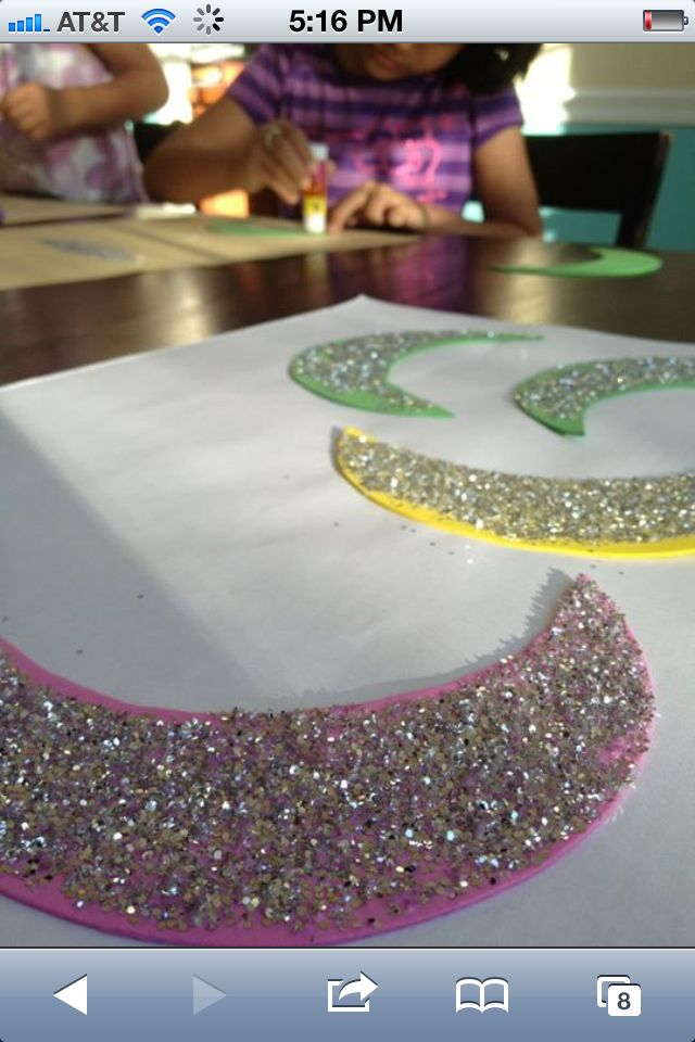 Ramadan glitter crescents