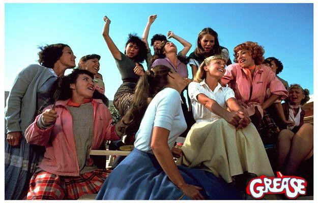 Grease Girls Pink Ladies Olivia Newton-John Movie Poster 11x17