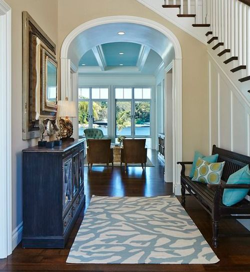 Blue Coral Rug For Hallway Foyer.... Http://www.