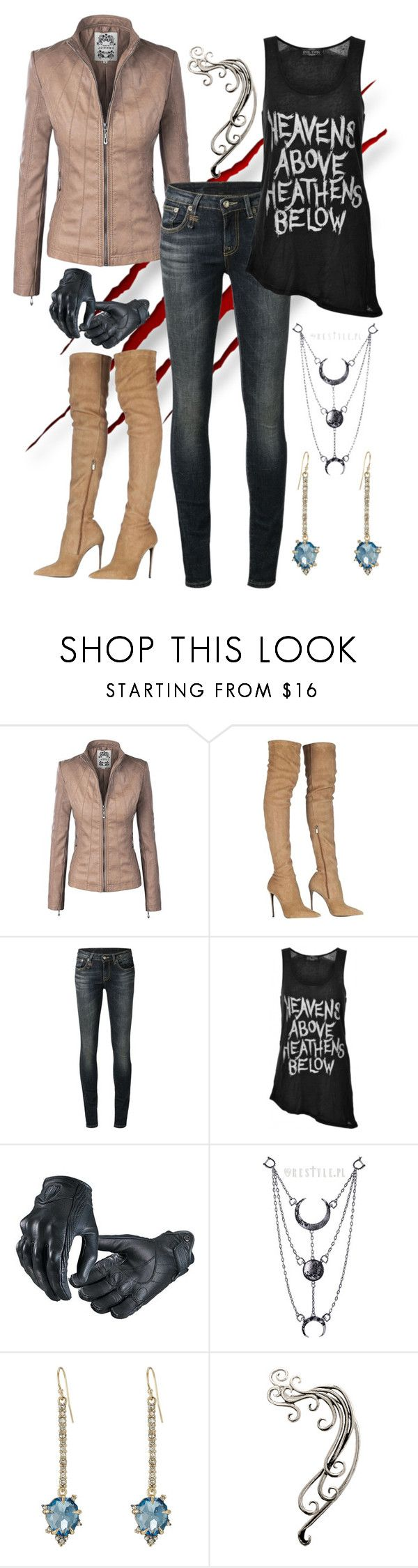 """""""Untitled #1012"""" by pandoraslittlebox ❤ liked on Polyvore featuring Roberto Cavalli, R13, Evil Twin and Alexis Bittar"""