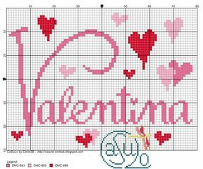 Boa semana a todos! Encomenda finalizada Amo bordar para bebês Segue o gráfico do nome, o gráfico da bebezinha é projeto a venda da L...