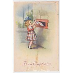 Risultati immagini per cartoline buon compleanno vintage