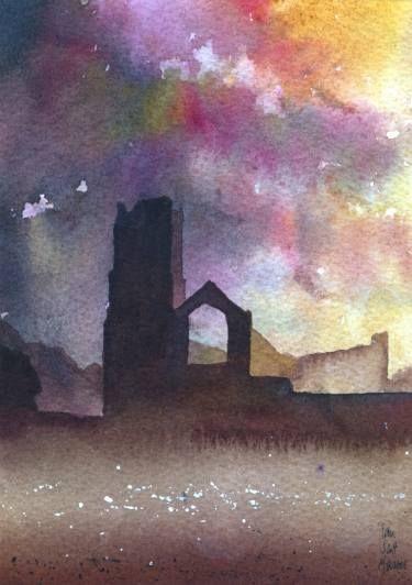 "Saatchi Art Artist Ian Scott Massie; Painting, ""Fountains Abbey"" #art"