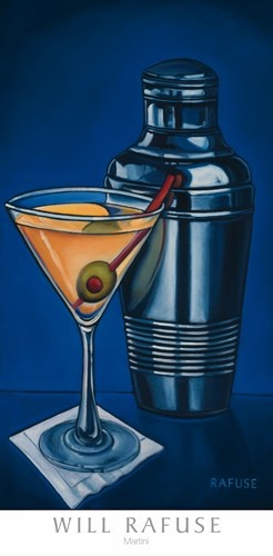 Martini Art Print by Will Rafuse