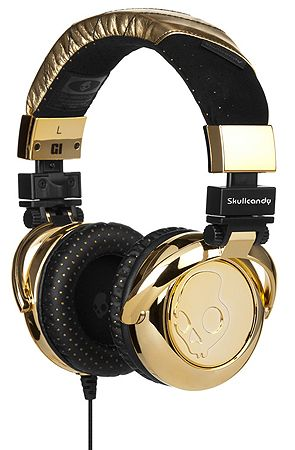 The G.I. Headphones in Gold  Unisex's Headphones By Skullcandy