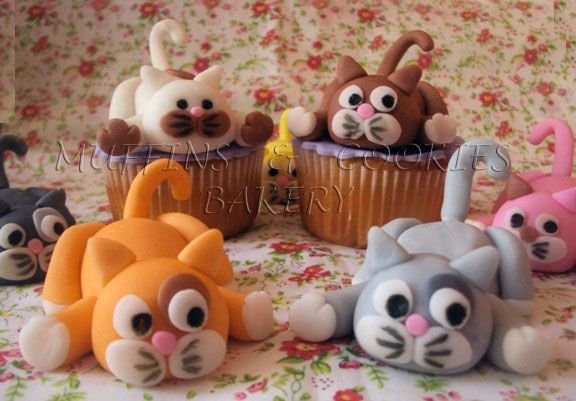 Kittens Muffins  /  Cupcakes Cats