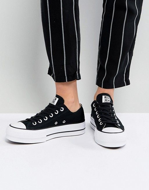 76a92b9dad8 Converse Chuck Taylor All Star Platform Ox Sneakers In Black ...