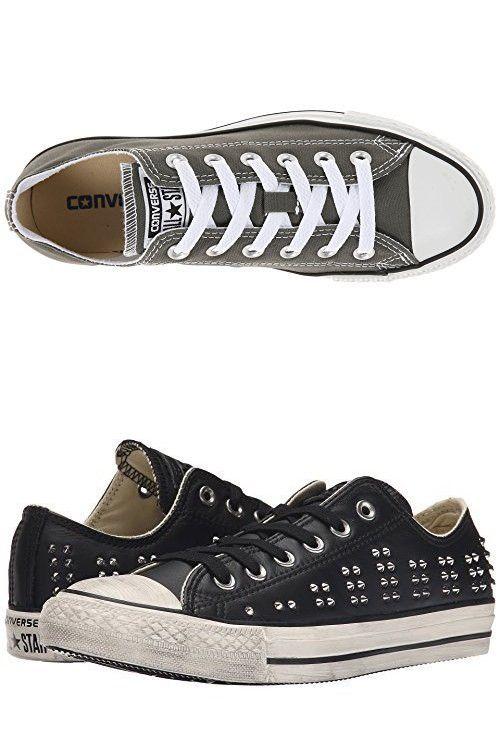 Converse Chuck Taylor All Star Core OX, (Negro, Blanco (Fresh Cyan/Black/White)), Medium/12 B(M) US