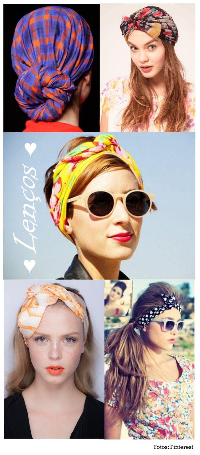 Inspirações de Lenços no Cabelo  http://viroutendencia.com/2014/01/21/como-usar-lencos-e-turbantes/