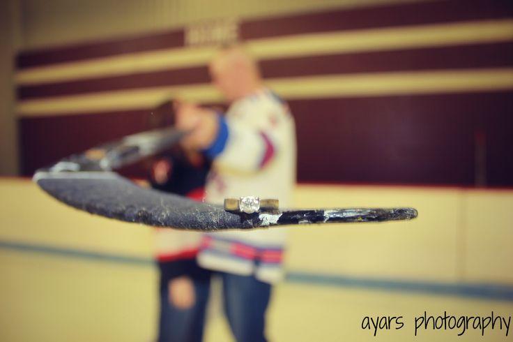 Hockey engagement shoot. Omaha, NE