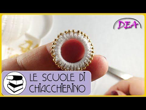 Chiacchierino - Come ricoprire un Cerchio con rifinitura di perline sul bordo. - YouTube