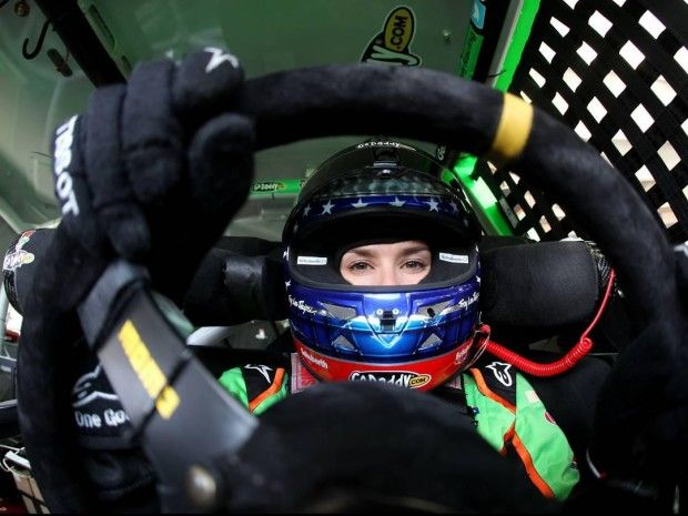 #Danica Patrick behind the wheel of her #race car at the #Daytona 500