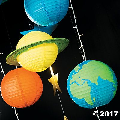 God's Galaxy VBS DIY Paper Lantern Planets Décor Idea