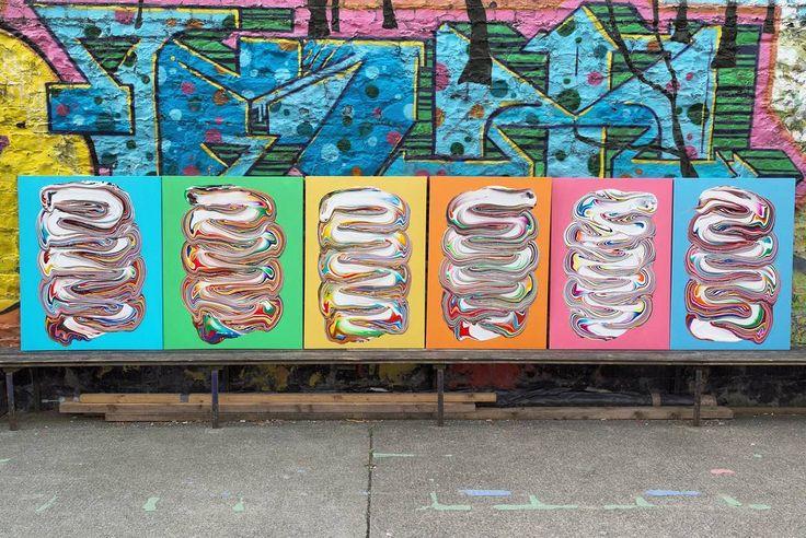 The last series of 2016  #dericksmith #dublin #modernart #contemporarypainting  #contemporaryart #paint #painting #paintings #fineart #art #colourful #flow #melt #drip #peinture #blend #acrylic  Photo by @killianbrod