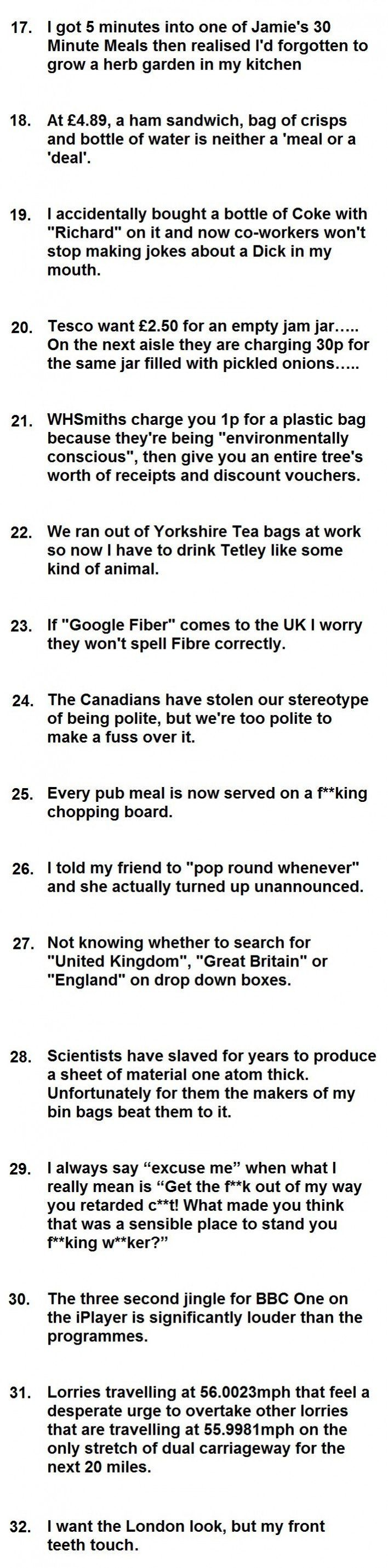 32 problems British people have to deal with in 2014
