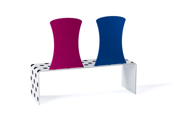 #Gertrude&Alice #bench, design #ElenaCutolo, pattern #TheRodnikBand for #altreforme, #altreformestarringChupaChups collection, #interior #home #decor #homedecor #furniture #aluminium #woweffect #madeinItaly