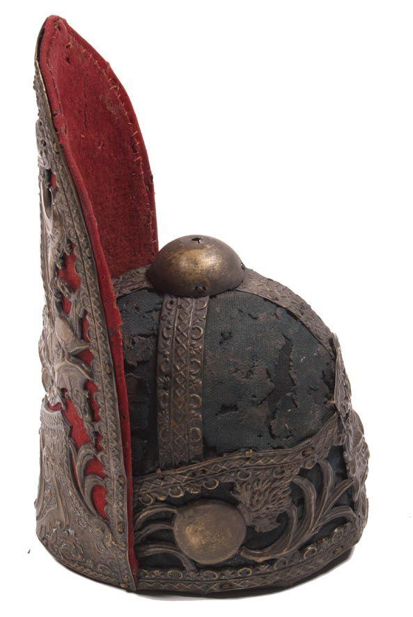 czapka oficera grenadierów reg.gwardii pieszej koronnej ca 1732