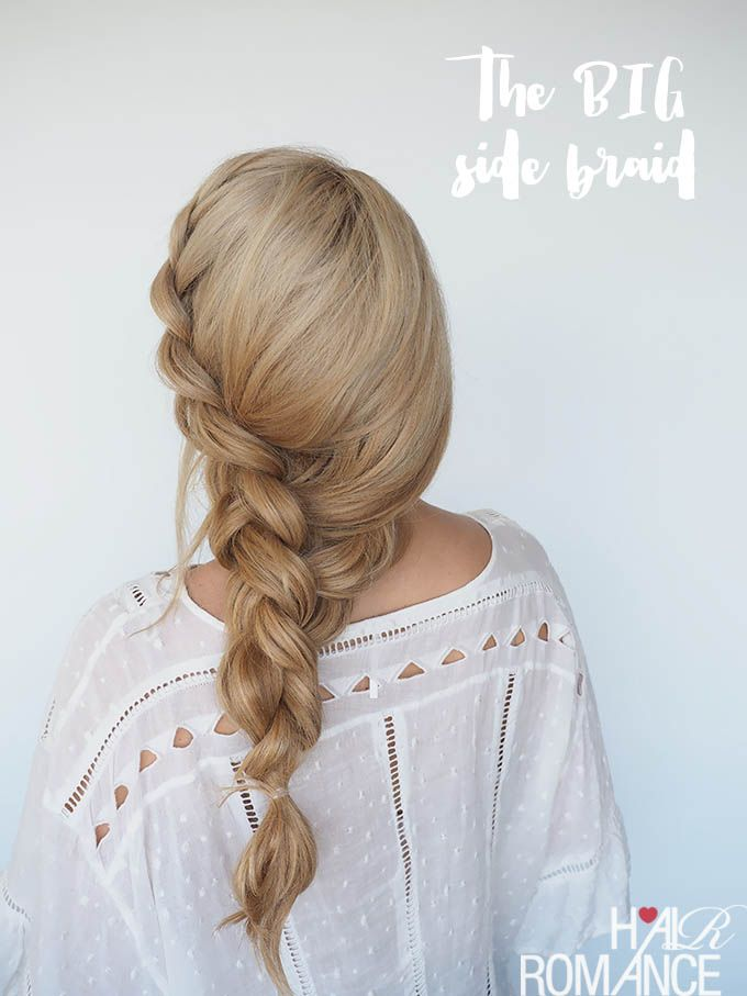 How to style a big side braid instant mermaid hair Hair Romance-I love big braids and I cannot lie! This big side braid tutorial is the hair I always wanted but could never achieve on my own. I have always dreamt of having mermaid length hair but sadly, my curly c