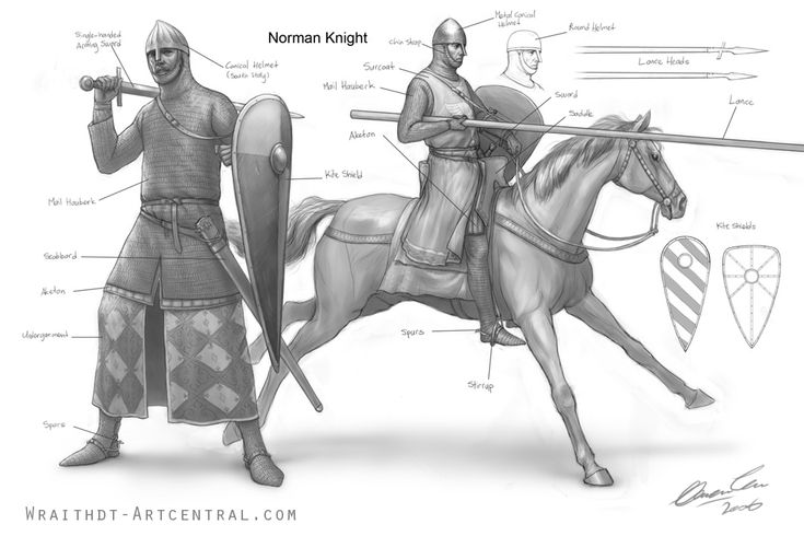 Great illustration of a Norman Knight. Fits 1170-1200 well. Surcoats over chainmail are just about to appear around 1190, just in a few french manuscripts. S, they were not common.