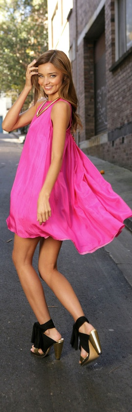 Little Pink Dress! Pink is my absolute favorite! This is so fun & feminine! Makes me wanna dance!! :)