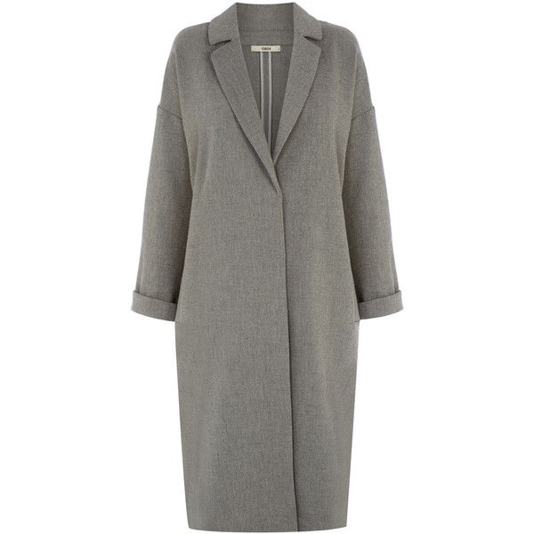 OASIS Duster Coat (£80) ❤ liked on Polyvore featuring outerwear, coats, jackets, grey, duster coat, gray coat, grey coat and oasis coat