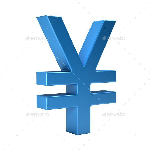 Yen Currency Symbol. 3D Rendering Illustration