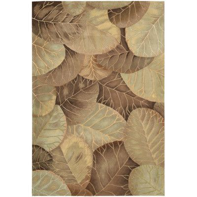 Nourison Tropics Brown/Green Novelty Area Rug Rug Size: 8' x 11'