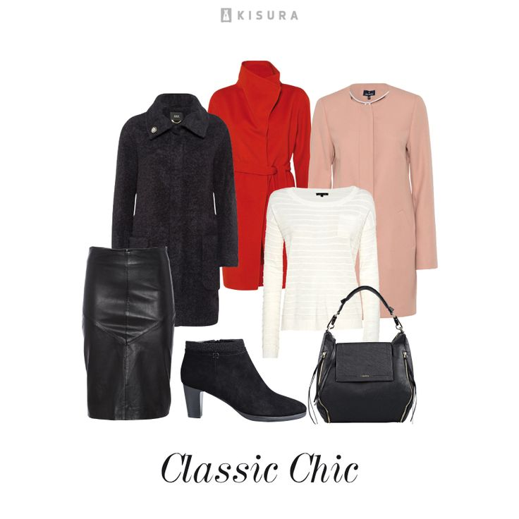 +++ Herbstessentials +++ weißes Langarmshirt, Lederrock, Stiefeletten, Handtasche, roséfarbener Mantel, roter Wickelmantel, schwarzer Teddy-Mantel // white long-sleeve shirt, midi leather skirt, black booties, black hand bag paired with black teddy coat or red statement coat with oversize stand-up-collar or antique rosé coat