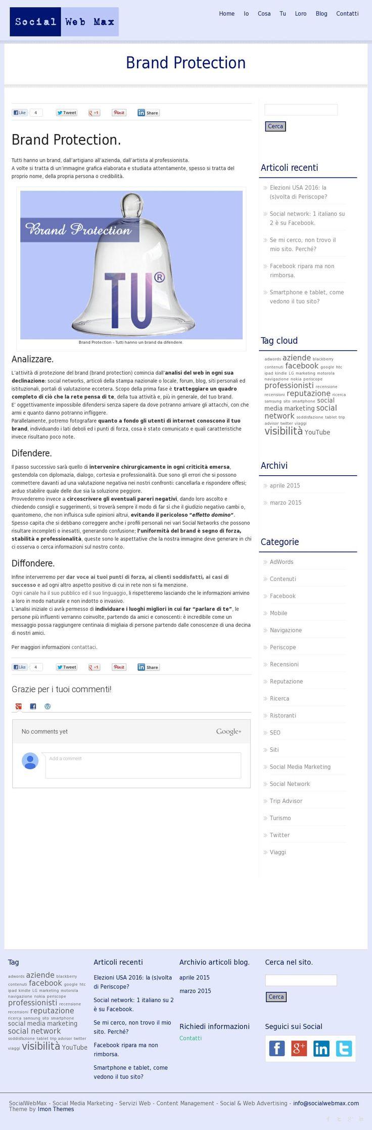 Brand Protection: la protezione del tuo brand in rete. 'http://www.socialwebmax.com/brand-protection/' courtesy of @Pinstamatic (http://pinstamatic.com)