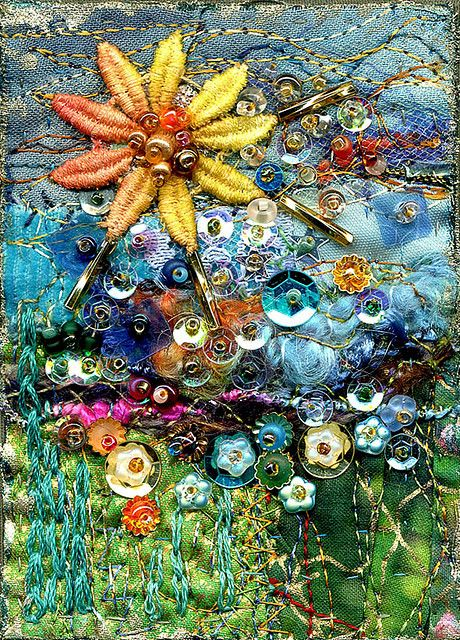 Sun to rule the day: art quilt Shared by www.nwquiltingexpo.com #nwqe #quilting #art