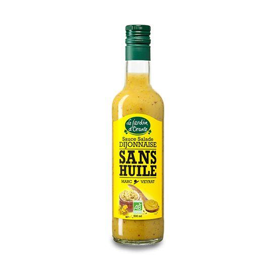 Sauce salade sans huile Bio Dijonnaise, sans matière grasse grâce à la fibre d'acacia !