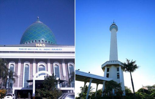 Wisata Menara 99 Meter Masjid Al-Akbar Surabaya